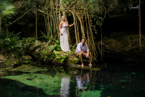 Margot & Scott @trash the dress @cenoterivieramaya
